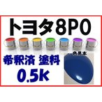 トヨタ8P0 塗料 ブルー ダイナ トヨエース 希釈済 カラーナンバー カラーコード 8P0