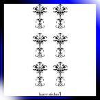 ショッピングmiddle HARRY STICKER ウォールステッカー 貼ってはがせる 転写式 中世の葉柄 (middle-ages-leaf) ブラック LL 約45×150cm