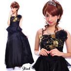 フラワースパンフリンジ姫ドレス