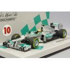 ☆ 【海外ショップ特注】 ミニチャンプス 1/43 メルセデス AMG ペトロナス F1チーム ショーカー 2013 F1 #10 L.ハミルトン