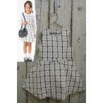セラフ Seraph チェックinお花柄のジャンパースカート 子供服 セール 16春夏 フォーマル 入学式