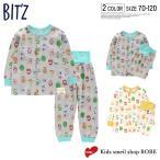 ビッツ(BIT'Z) パジャマ 前開きパジャマ 動物柄パジャマ 動物ナンバー柄パジャマ ベビー キッズ トドラー 長袖 長ズボン 男の子 女の子 子供 B158011