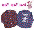 送料無料! 定価8300円 RONI! ロニィ 女の子 可愛い チェック シャツ トップス 2カラー 115cm〜155cm