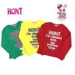 送料無料! 定価4900 RONI! ロニ 女の子 可愛い ロンT ロゴ トップス 3カラー 105cm〜155cm