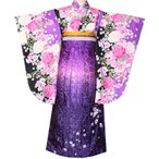 ショッピング卒業式 小学生用 卒業式袴 振袖 袴 袴セット 薔薇柄青13