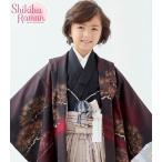 式部浪漫 七五三着物 753 男児着物 5歳羽織 袴のフルセット2019年 SR5ベージュX金