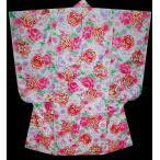ショッピング薔薇 七五三着物 753 7歳着物ブランドFROM KYOTO牡丹に薔薇柄黒単品