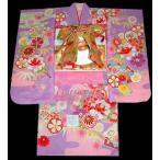 ショッピング着物 七五三 着物 7歳  フルセット 753  22点セット 絵羽柄 牡丹柄紫