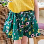 子供服 キッズ GREEN TOMATO フロントリボン フラワー キュロット ショートパンツ 女の子 春 夏 韓国子供服