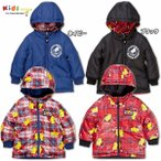 MY FIRST HYSTERIC マイファーストヒステリック ROLLING MINI FACE CHECK総柄リバーシブルナイロンジャケット-SALE50