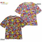 Hystericmini ヒステリックミニ SUPER POP総柄 ビッグシルエット半袖Tシャツ-送料・代引き手数料無料
