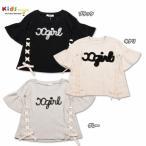 X-girl Stages エックスガール ステージス ロゴ袖フリル半袖Tシャツ-SALE40