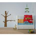 大きな木に住むフクロウ  子供部屋 ウォールステッカー