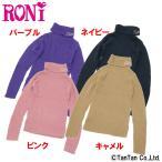 roni ロニィ ニット 無地 ロゴ 刺繍 タートルネックセーター