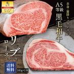 牛肉 肉 和牛 A5等級 リブロースステーキ 大判ステーキ 贈答にも(300g×2枚) 送料無料 ギフト