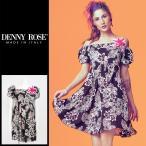 デニーローズ DENNY ROSE ワンピース レディース フラワー 花柄 ボタニカル柄 オフショルダー コサージュ付き フレア