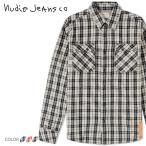 Yahoo!キイロヤ インポートヌーディージーンズ Nudie Jeans 長袖シャツ メンズ オーガニックコットン チェック柄 フランネルシャツ GUNNAR/LIGHT TWILL CHECK