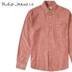 Yahoo!キイロヤ インポートヌーディージーンズ Nudie Jeans 長袖シャツ メンズ オーガニックコットン シンプル シャンブレーシャツ STANLEY/RED CHAMBRAY
