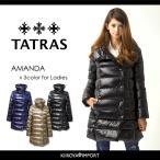 タトラス TATRAS ダウンジャケット ダウンコート レディース ビッグカラー 袖リブ切替 微光沢 AMANDA