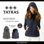 タトラス TATRAS ダウンベスト レディース フード付き ウール 止水ジップ 薄型 GIOCONDA
