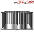 犬のサークル 12-6Sグレー トールタイプ 屋根なし スチール製 室内屋外兼用 犬 サークル ゲージ ケージ 小屋 ハウス いぬ イヌ 大型 中型