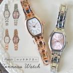 腕時計 レディース ニッケルフリー 樽型 メタル 金属アレルギー おしゃれ かわいい 大人 女性 ギフト プレゼント 1年間のメーカー保証付 メール便送料無料