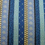 和風生地  縦縞柄  青系  和調和柄布