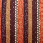 和風生地  縦縞柄  茶系  和調和柄布