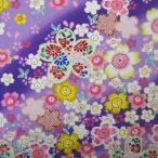 和柄生地・桜満開柄(紫)/生地・和柄・和調・手芸・布地・綿・コットン・ 布・和布