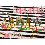 パネル柄【約58cm単位販売】 candy party happy animals (キャンディ パーティ) シマウマボーダー柄オックス 生地