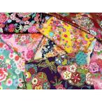 【メール便なら送料無料】和調花柄きもの風の生地がいっぱいトライアル10枚セット