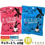 送料無料 沖縄土産 チョコっとう プレーン 40g×5袋 塩味 40g×5袋 10セット メール便 チョコ 黒糖 バレンタインデー ホワイトデー