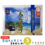 雪塩ちんすこう (小) 24個入(2×12袋)×5箱セット 箱タイプ 沖縄 お土産 お菓子