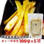 沖縄 漬物 ヨシおばぁの手作り 島らっきょう 島ら。NEW あぐー豚味噌(ラー油)漬け 100g×5袋 +今だけプラス1袋プレゼント♪