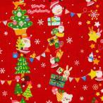 Yahoo!生地屋むさしセール クリスマス 【1mカットクロス】 コスモテキスタイル サンタ フラッグ シーチング 生地 布