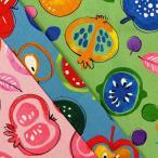 Yahoo!生地屋むさしセール 北欧風野菜 【1mカットクロス】 コスモテキスタイル キャンバス 生地 布【送料無料】