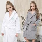 2020冬新作 キッズフード付き 厚手 バスローブ 綿100  ロング丈 かわいい 秋冬用 暖かい 子供用 タオル地 ローブ 防寒 ナイトガウン kids' bathrobe