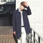メンズ ステンカラーコート ロング丈 春 スプリングコート 綿 ビジネス 紳士用 カジュアル 薄手 通勤 ロングコート 男性 春 ライトアウター