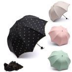 ショッピング日傘 折りたたみ 日傘 折りたたみ 遮光遮熱 晴雨兼用傘 uvカット リボン 水玉柄 フリル縁 レディース 深張り 裏張り パコダ 折りたたみ 日傘 ブラックコーティング