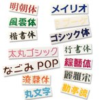 1文字 H20mm 漢字ひらがなカタカナ切文字ステッカーカッティングシール タックペイントカラー(ツヤあり)16色選択 屋外用 ステッカー