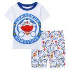 キッズ 子供服 ジュニア 上下セットルームウェア  パジャマ 半袖&短パン(ドラえもん)90cm〜130cm 春夏 薄手綿100%
