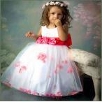 【送料無料】キッズドレス 子供ドレス 女の子 衣装 コスチューム イベント パーティー ピンク フラワー お姫様