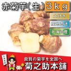 【条件付き送料無料】今話題の菊芋 北海道産 無農薬 化学肥料不使用 生 土付き 赤 3kg