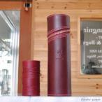 ペンケース 円筒型 オリジナル オーダーメイド 革 イタリアンレザー レザー 名入れ ギフト プレゼント