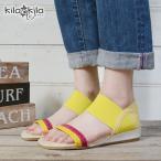 ショッピングウェッジ サンダル レディース ウェッジソール ヒール オープントゥ ゴムバンド フィット ベルト パンプス ゴア 歩きやすい 疲れにくい 靴 kilakila