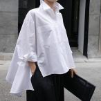 レディースシャツ、ブラウス モード系 ビッグサイズ シャツ ワイド ゆったり 大きめ マント 10代 20代 30代 40代 50代