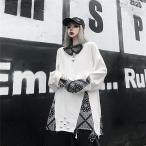 個性的トップス モード系ファッション 長袖 原宿系 不規則 イベント オフ会 コスプレ ステージ衣装 10代 20代 30代 40代 50代