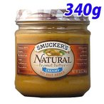 スマッカーズ ナチュラルクリーミー ピーナッツバター340g 無糖 ジャム スプレッド パン 朝食