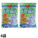 トイレに流せる木製猫砂 大容量タイプ 12L 4袋 TN-MN12〔猫砂 猫の砂 ネコ 激安 おすすめ 流せる 木製猫砂 ひのき 大容量 比較〕