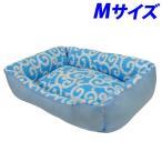 ペットプロ アラベスク ベッド M ブルー ペット用品 犬 猫 ベッド ペット